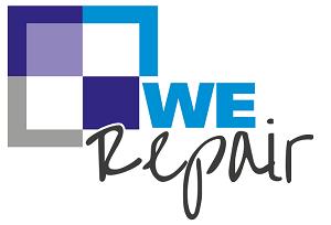 Logo we-repair interieur herstel wrappen kozijnen